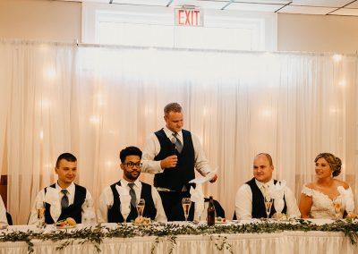 groomsman makes speech